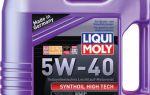 Масло liqui moly synthoil high tech 5w40: технические характеристики и отзывы
